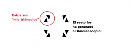 Figura 2. Un Caleidoscopio...con Lenguaje Processing!.