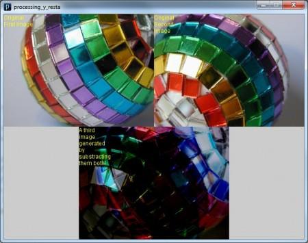 Restamos las imágenes de arriba para obtener la de debajo. Imágenes cortesía de http://www.freeimageslive.com/.