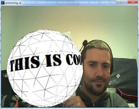 Una esfera en 3D y con textura flota ante nuestros ojos gracias a la R.A.