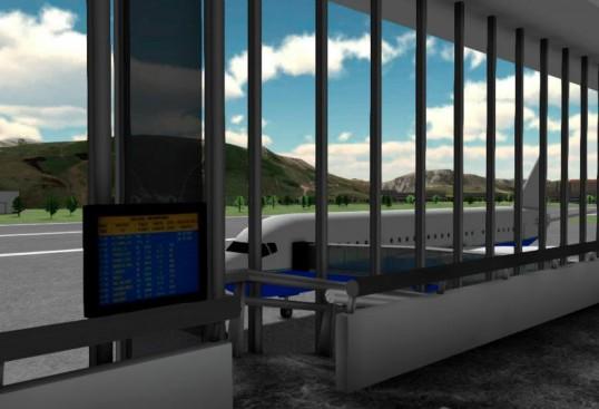 Figura 2.1 Entorno virtual de VirtualRET® para el tratamiento de la fobia a volar