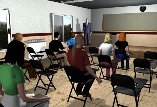 Figura 2.2 Aula virtual dirigida a la ansiedad ante los exámenes (Alsina-Jurnet et al., 2011)