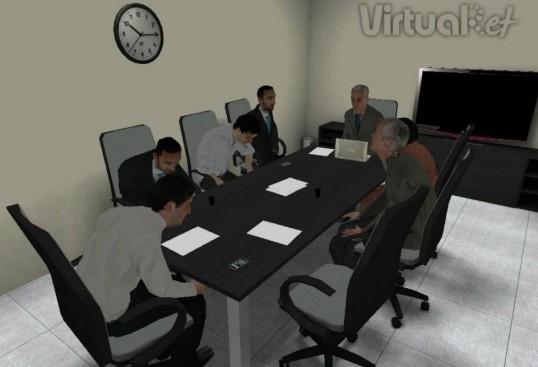 Figura 2.3 Audiencia virtual de VirtualRET® para el miedo a hablar en público