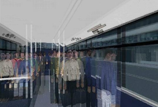 Figura 3.1  Entorno virtual de Virtual Going Out® en el que se simula la visión doble