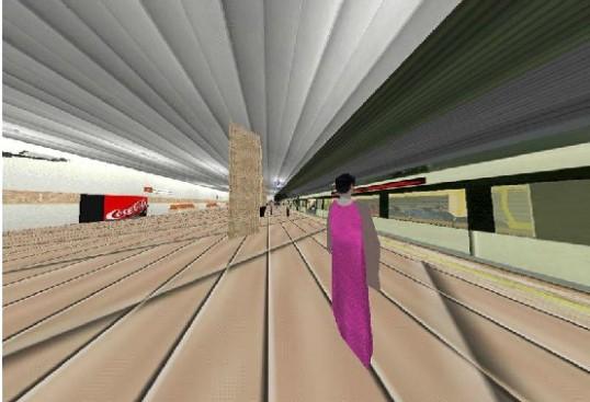 Figura 3.2 Entorno virtual de Virtual Going Out en el que se ofrece exposición a la visión de túnel
