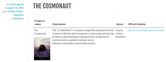 El Cosmonauta: Ejemplo de proyecto Transmedia
