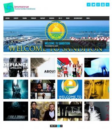Portada del sitio web de Immerse, donde podemos acceder a los distintos proyectos transmedia que ofrecen.