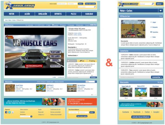Se muestra la versión web y smartphone después de la transformación