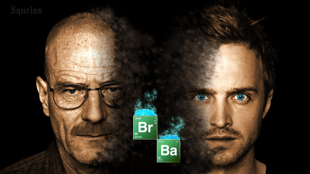 Imagen promocional de la serie Estado Unidense Breaking Bad de la cual se hace referencia en el texto.