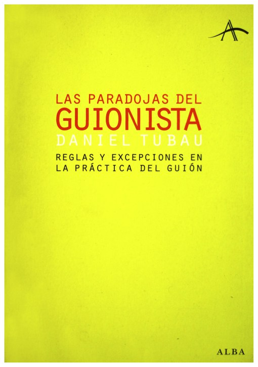 """Captura del libro """"Las paradojas del guión de Daniel Tubau""""."""