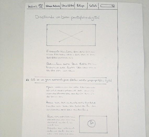 Boceto de la página de artículo en pantallas grandes