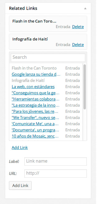 El nuevo widget de enlaces relacionados