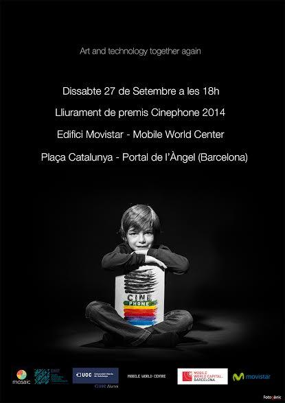 Cartel anunciador de la entrega de premios de Cinephone 2014
