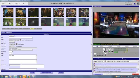 Captura de pantalla de descripción e indexación de imágenes