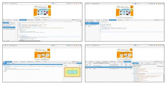 Ejemplo de análisis del código interno de la página web elegida para realizar la práctica