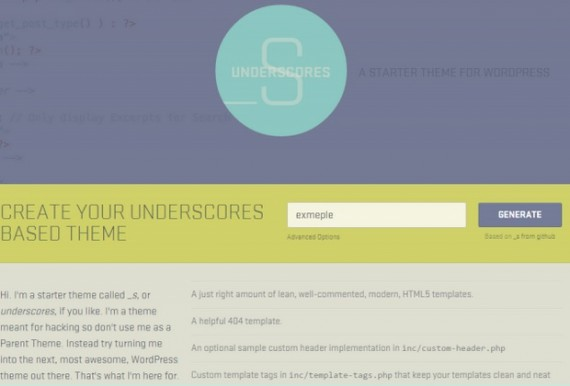 Interfaz de underscores