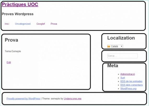 Visualización del tema de WordPress con nuestro nuevo estilo