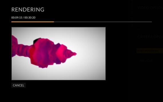 Ejemplo d visualización del proyecto.