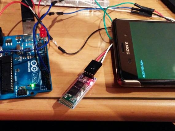 Sincronización de datos en la comunicación de Arduino y APP Android PaintXYZ.