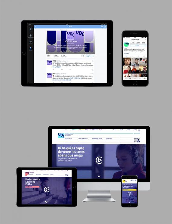La nueva web vista en distintos soportes y plataformas
