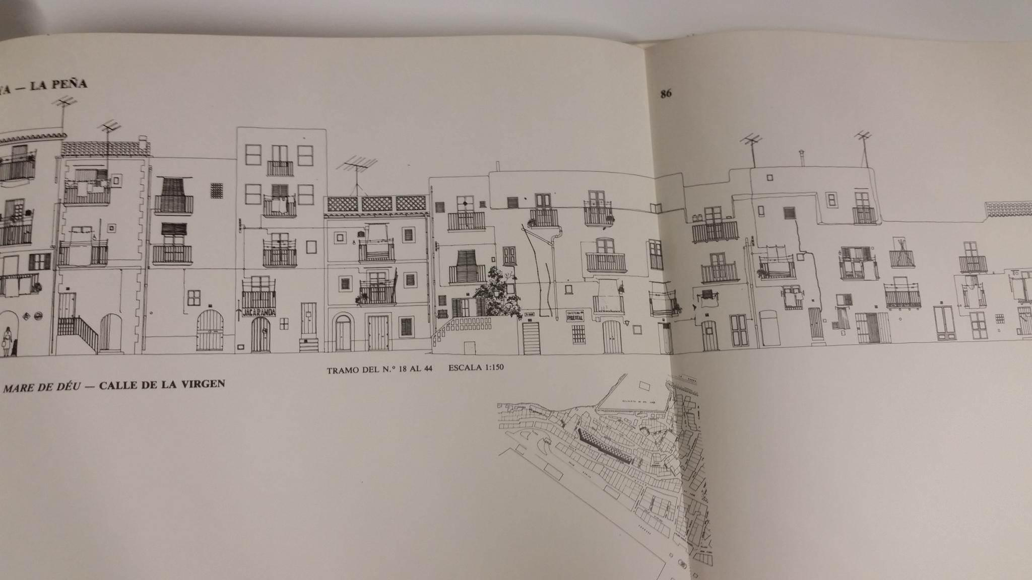 Interior de uno de los libros de Luis Cervera Miralles sobre las planimetrías de Dalt