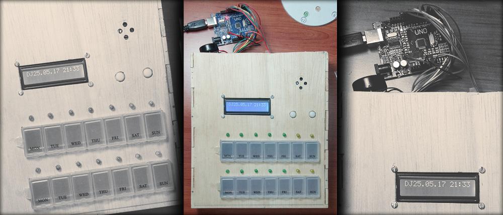 Prototipo del pastillero semanal interactivo