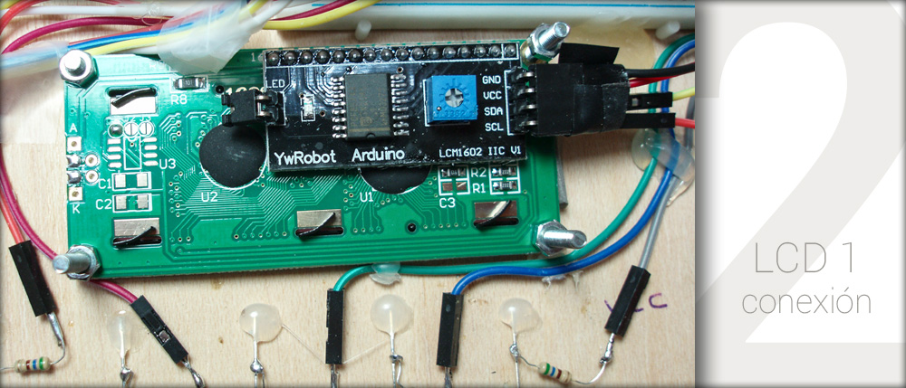 Conexión del módulo LCD