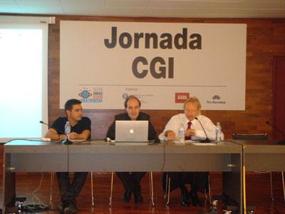 Toni Bover, Miquel Bigas y Enric Galve durante su conferencia