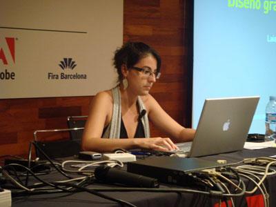 Laia Blasco antes de su presentación