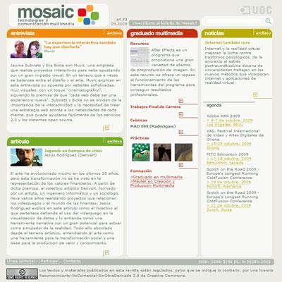 Antigua plantilla de Mosaic