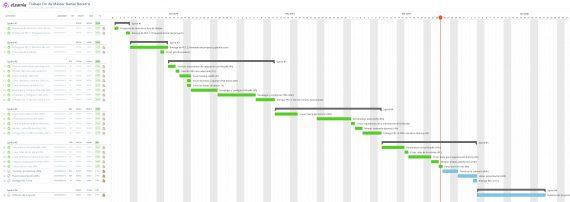 Figura 1. Planificación del proyecto. Fuente: elaboración propia con Asana e Instagantt.